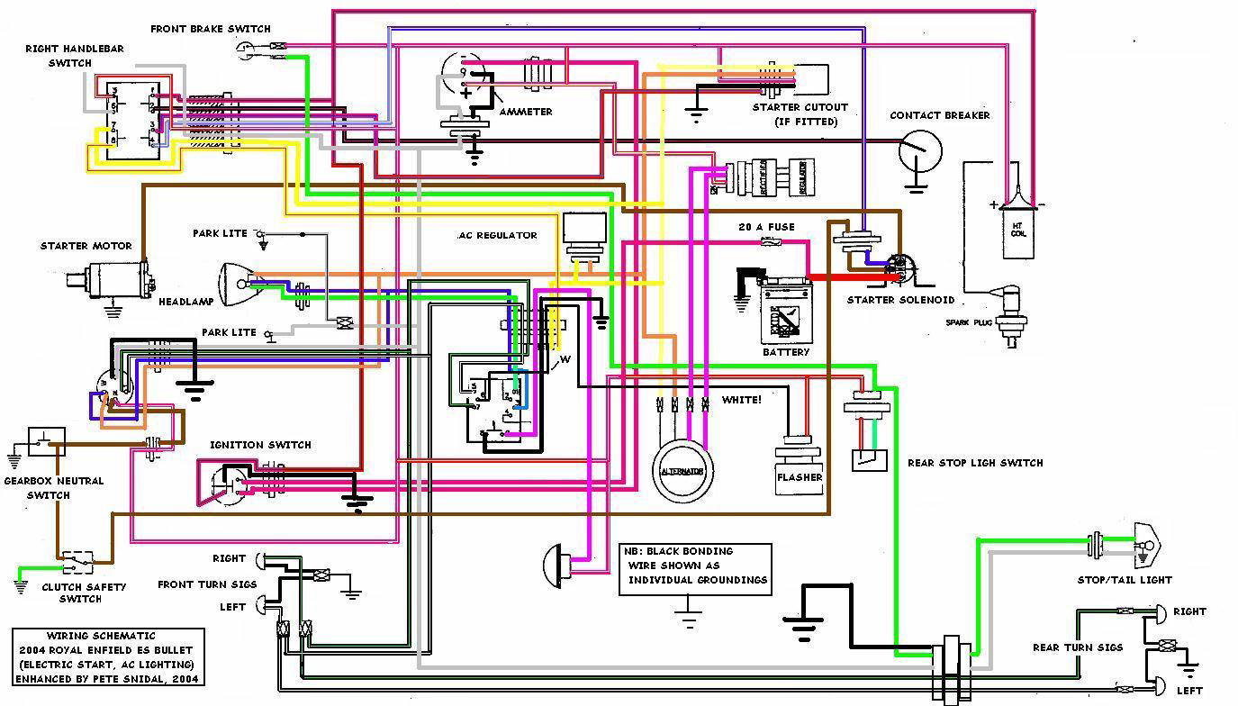 royal enfield e start wiring diagram royal enfield bullet 500 wiring diagram - wiring diagram