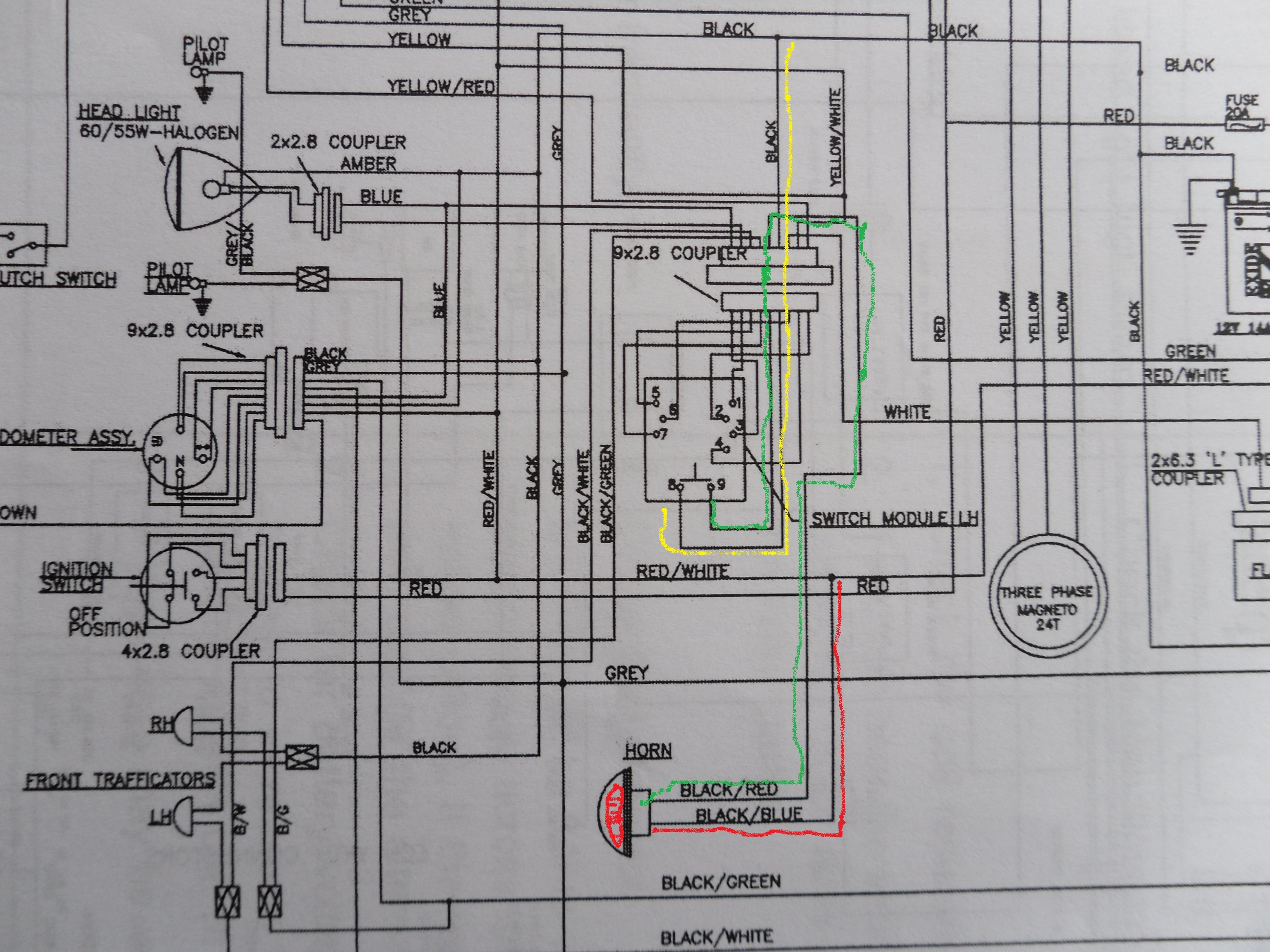 Hot or Ground wire to horn button?Unofficial Royal Enfield Community Forum